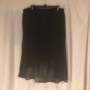 Style & Co. High Low Chiffon Skirt
